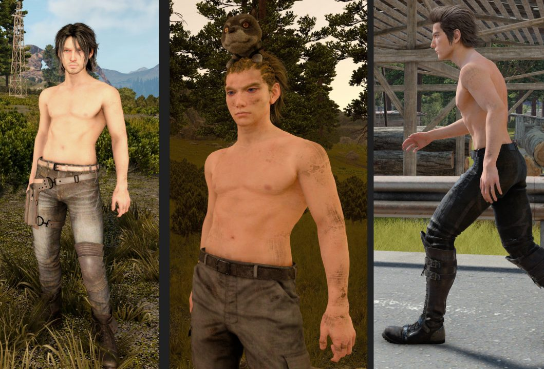 ffxv screenshot shirtless mod