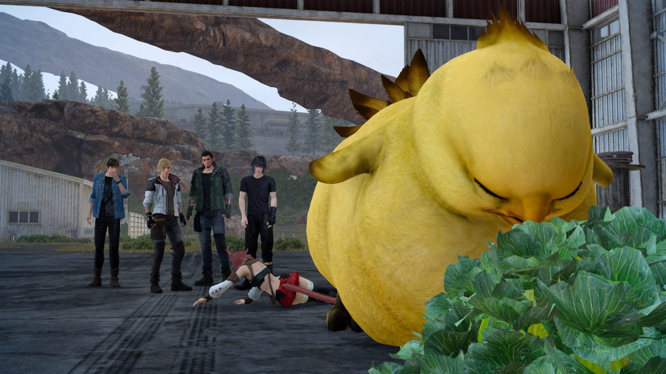 ffxv screenshot chocobo chick