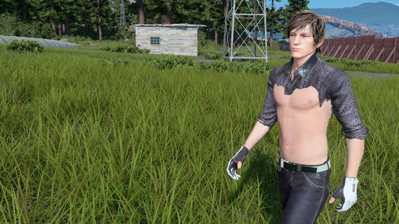 ffxv screenshot 4k ignis shirtless