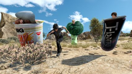 final fantasy xv ffxv mod outfit broccoli cup noodle ebony