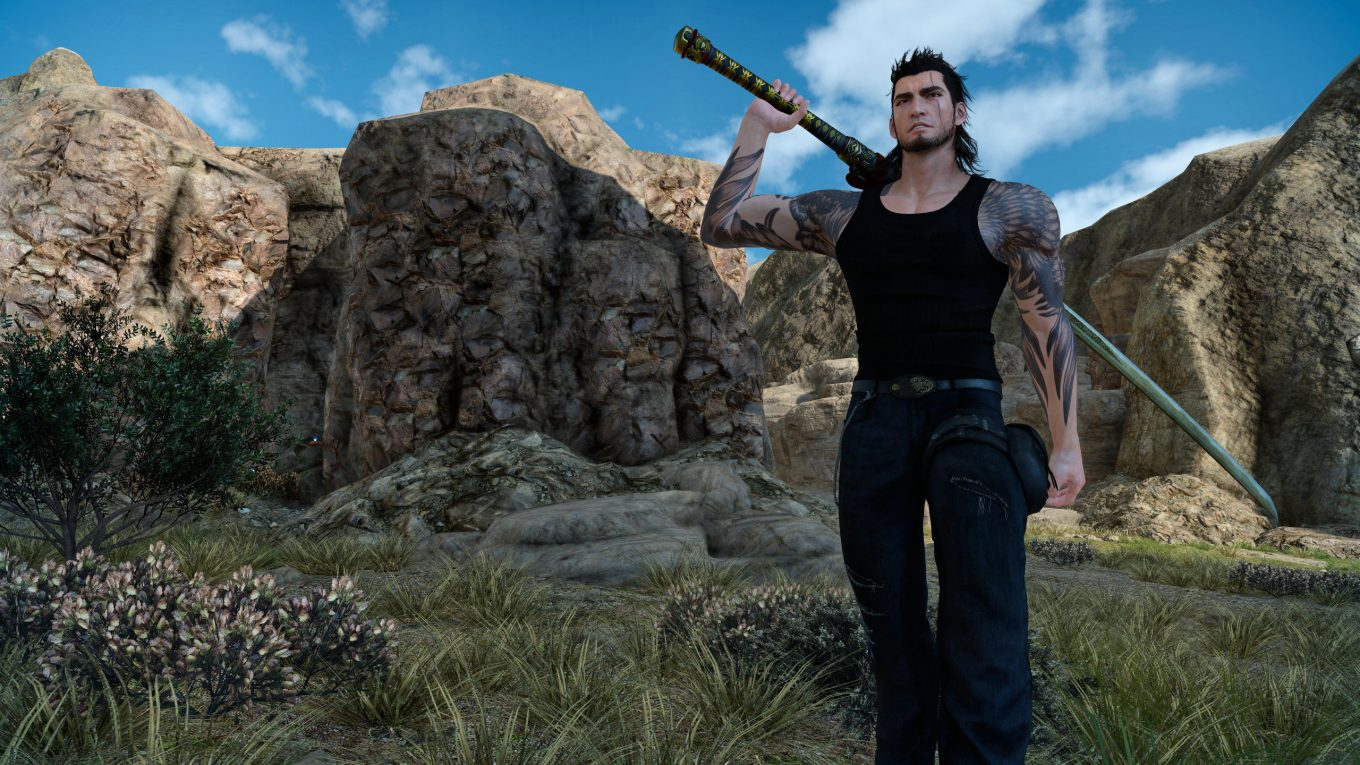 final fantasy xv screenshot gladio ffxv
