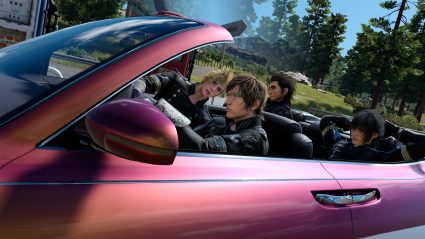 ffxv regalia driving screenshot