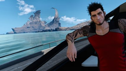 final fantasy xv screenshot gladio on boat