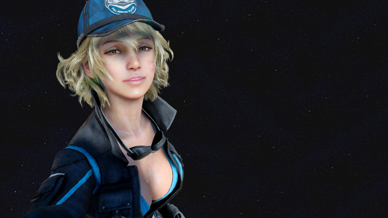 final fantasy xv wallpaper screenshot cindy 4k ffxv