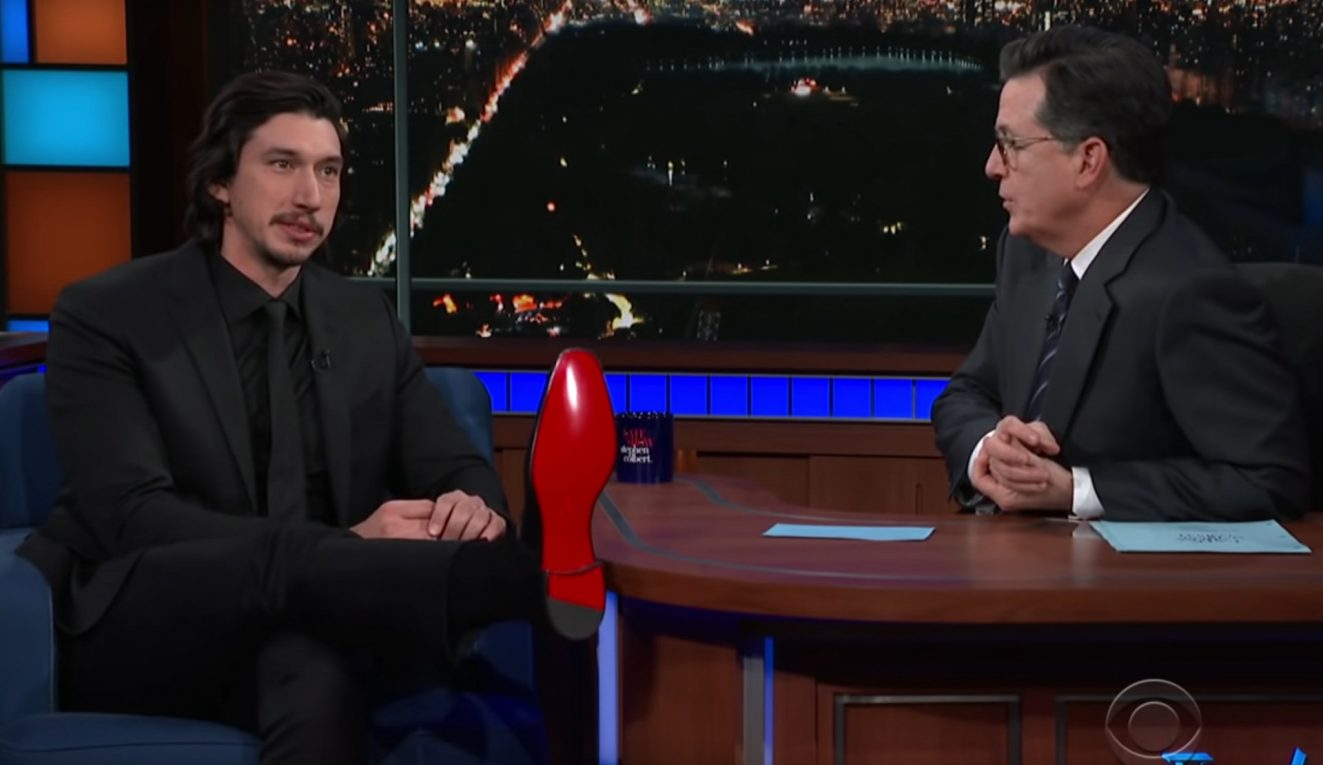 adam driver red shoe